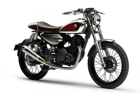 Motowish bg bike yamaha resonator 125 4 - Yamaha Resonator 125 คลาสสิคไบค์ สไตส์เรโทร - ถึงงานโตเกียวมอเตอร์โชว์ ค่ายส้อมเสียง ยามาฮ่าก็ไม่น้อยหน้า เริ่มทยอยเผยโฉมรถคอนเซ็ปรุ่นต่างๆออกมาให้เห็นมากมาย หนึ่งในนั้น คือ