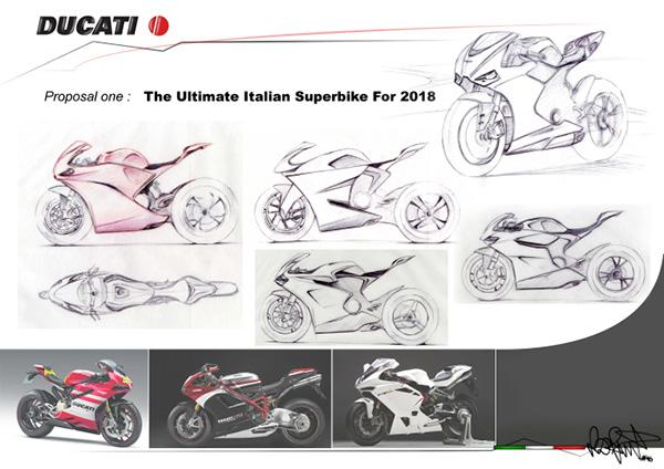 motowish bigbike Ducati VR46 2 - Ducati VR46 สุดยอดซูเปอร์ไบค์ปี 2018 จากแบบร่างของแฟนตัวยง Rossi - หากพูดถึง Ducati มันเป็นรถที่มีรูปแบบโดดเด่น และอัดแน่นไปด้วยเทคโนโลยีอยู่แล้ว แต่คันที่เราเห็นในภาพเป็น Ducati VR46