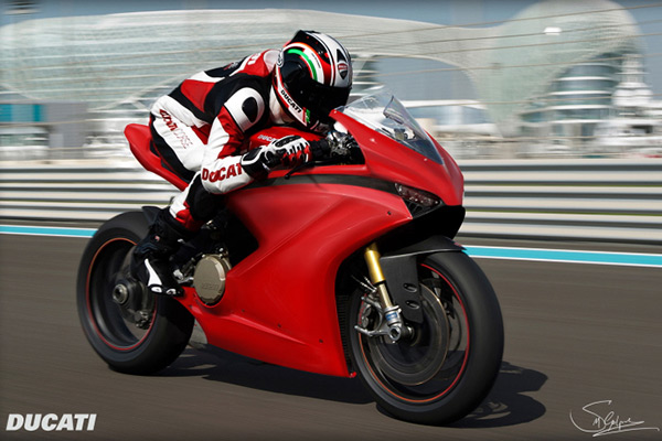 motowish bigbike Ducati VR46 3 - Ducati VR46 สุดยอดซูเปอร์ไบค์ปี 2018 จากแบบร่างของแฟนตัวยง Rossi - หากพูดถึง Ducati มันเป็นรถที่มีรูปแบบโดดเด่น และอัดแน่นไปด้วยเทคโนโลยีอยู่แล้ว แต่คันที่เราเห็นในภาพเป็น Ducati VR46