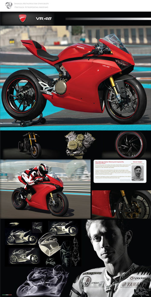 motowish bigbike Ducati VR46 4 - Ducati VR46 สุดยอดซูเปอร์ไบค์ปี 2018 จากแบบร่างของแฟนตัวยง Rossi - หากพูดถึง Ducati มันเป็นรถที่มีรูปแบบโดดเด่น และอัดแน่นไปด้วยเทคโนโลยีอยู่แล้ว แต่คันที่เราเห็นในภาพเป็น Ducati VR46