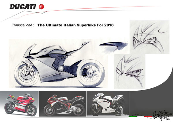 motowish bigbike Ducati VR46 5 - Ducati VR46 สุดยอดซูเปอร์ไบค์ปี 2018 จากแบบร่างของแฟนตัวยง Rossi - หากพูดถึง Ducati มันเป็นรถที่มีรูปแบบโดดเด่น และอัดแน่นไปด้วยเทคโนโลยีอยู่แล้ว แต่คันที่เราเห็นในภาพเป็น Ducati VR46