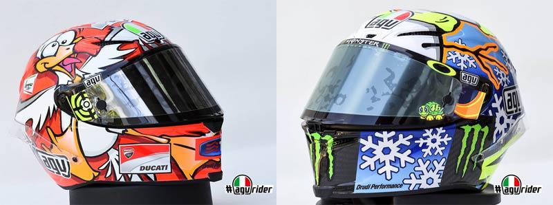 AGV ประกาศวางขาย หมวกลาย Winter Test ของ รอสซี่ และ เอียนโนเน่ | MOTOWISH 158