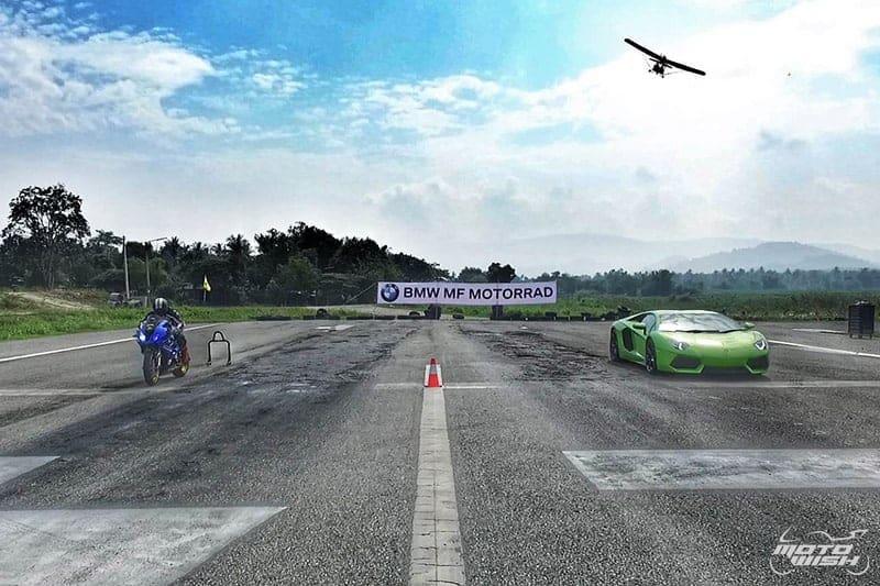BMW S1000RR VS Lamborghini Aventador LP 700-4 : 402 ม. ใครจะวิน !!! | MOTOWISH 142