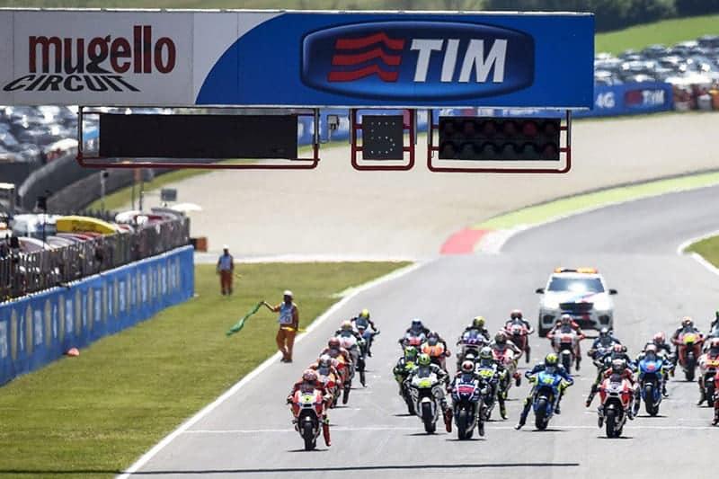 เวลาถ่ายทอดสดและอันดับสตาร์ท MotoGP สนาม Mugello ประเทศอิตาลี | MOTOWISH 88