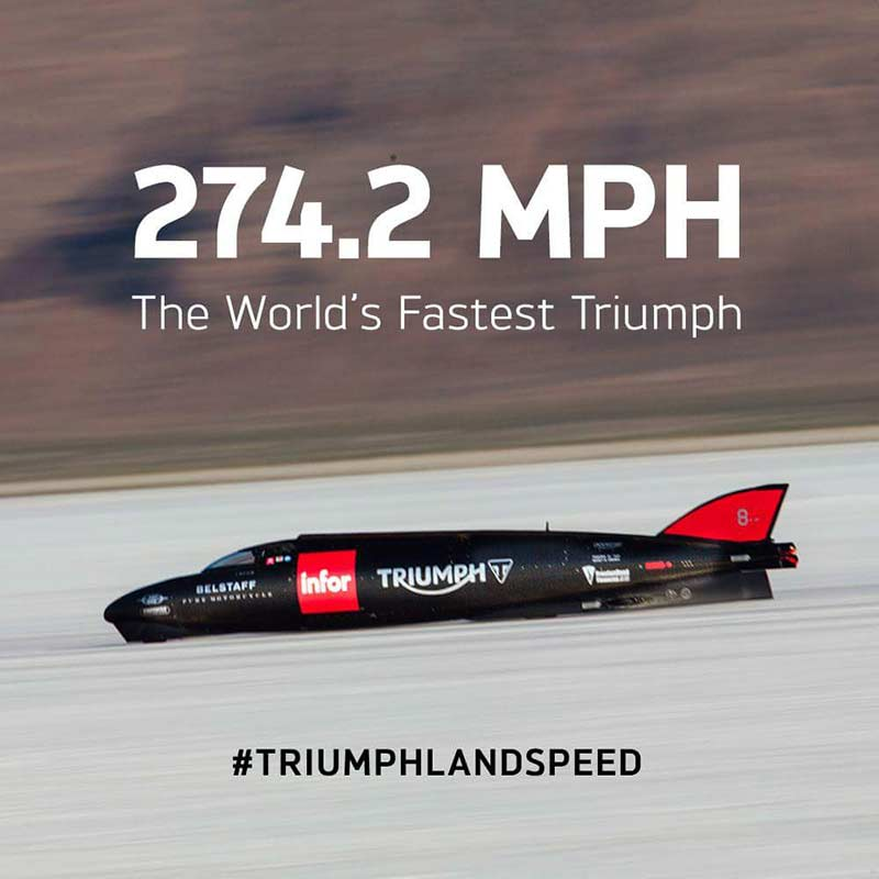 Guy Martin สร้างสถิติใหม่ในการซ้อม ควบ Triumph ไต่ระดับความเร็ว 441 กม./ชม. | MOTOWISH 45