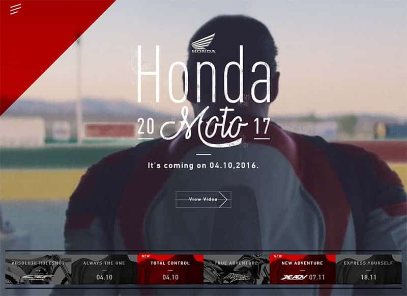 Honda เปิดเว็บเผยทีเซอร์ Honda Moto 17 แย้มโมเดลที่จะมาในปี 2017 | MOTOWISH 112