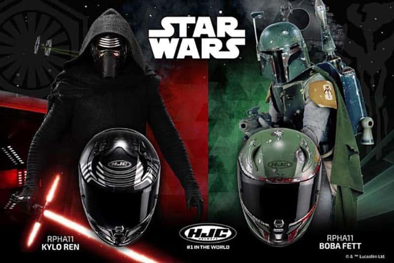 "MW HJC Star Wars Helmets - สาวก Star Wars รอเลย!! HJC ฉลอง 45 ปี คว้า Kylo Ren & Boba Fett มาเป็นลายหมวกกันน็อค - ชาวไบค์เกอร์ที่เป็นสาวกสตาร์วอร์ต้องดีใจแน่ๆ เมื่อค่ายหมวกกันน็อคชื่อดังจากเกาหลีฉลองครบรอบ 45 ปี ด้วยการจับนักรบหนังสงครามอวกาศชื่อดัง ""Star Wars"" มาเพ้นท์เป็นลายพิเศษบนหมวกกันน็อค หมวกลาย Star Wars มีให้เลือก"