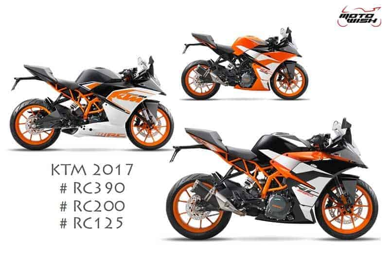 เผยภาพ และสเป็ค สปอร์ตไบค์ตระกูล RC ปี 2017 ของค่าย KTM (RC390, RC200, RC125) | MOTOWISH 144