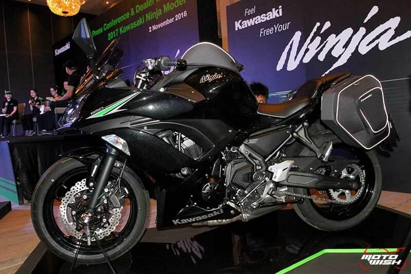 MotoWish 2017 Kawasaki Ninja 650 06 - Kawasaki จัดหนักขนทัพรถใหม่ล่าสุดทุกโมเดล เอาใจคอบิ๊กไบค์ในงาน Motor Expo 2016 - บริษัท คาวาซากิ มอเตอร์ เอ็นเตอร์ไพรส์ (ประเทศไทย) จำกัด ผู้ผลิตรถจักรยานยนต์บิ๊กไบค์ชั้นนำของโลก เปิดมอบประสบการณ์สุดพิเศษให้แก่นักขับขี่และผู้สนใจรถจักรยานยนต์บิ๊กไบค์ ด้วยการจัดแสดงโมเดลใหม่ล่าสุดของปี 2017