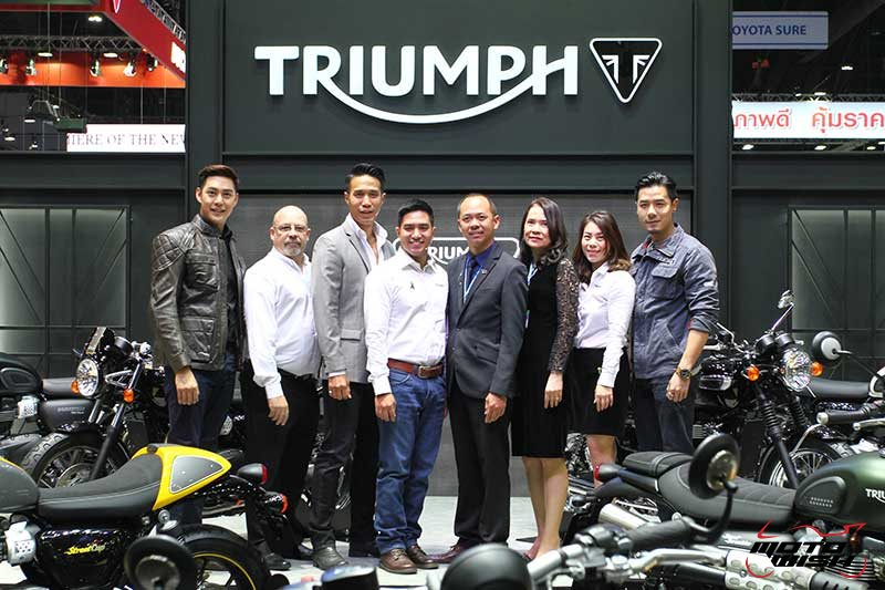 Motowish Moto Expo 2016Triumph - Triumph เปิดตัว 5 รุ่นใหม่ มีไฮไลท์ Bonneville Bobber และ Street Scrabler ให้สัมผัสครั้งแรกในเอเชีย  (Motor Expo 2016) - ถือเป็นปรากฏการณ์สุดเอ็กซ์คลูซีฟ เมื่อ Triumph Motorcycle Thailand เปิดตัวสุดยอดไฮไลท์แห่งปี บอนเนวิลล์ บอบเบอร์ (Bonneville Bobber) และ สตรีท สแครมเบลอร์ (Street Scrambler) เป็นครั้งแรกในเอเชีย โดยทั้ง 2 รุ่น มาพร้อมเทคโนโลยีสุดล้ำสมัยแต่ยังคงเอกลักษณ์ตามแบบฉบับบอนเนวิลล์ไว้อย่างครบถ้วน