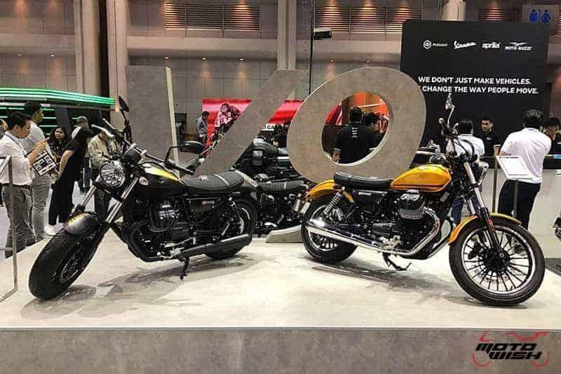 Motowish Moto Expo 2016Moto Guzzi 13 - Moto Guzzi ปล่อยของดี รถคัสตอม V9 Bobber และ V9 Roamer สุดแนว (Motor Expo 2016) - โมโต กุซซี่ (Moto Guzzi) เป็นอีกแบรนด์หนึ่งที่ เวสปิอาริโอ นำเข้ามาจำหน่ายในประเทศไทยอย่างเป็นทางการ สำหรับแบรนด์ Moto Guzzi มีตราสัญลักษณ์เป็นรูปนกอินทรีกางปีกแดง และมีประวัติศาสตร์มายาวนานมาตั้งแต่ ค.ศ. 1921 นั่นทำให้แบรนด์นี้มีอายุกว่า 95 ปี