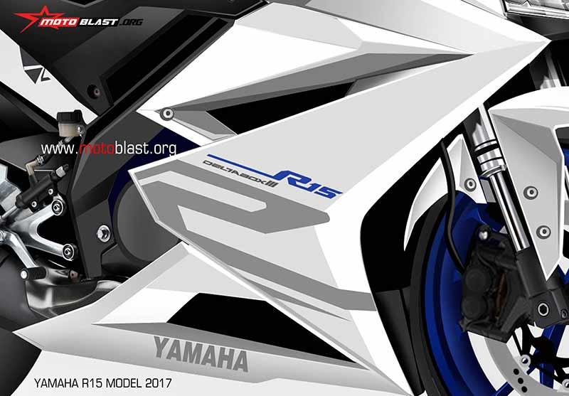 Motowish Yamaha R15 Render 1 - ส่องว่าที่ Yamaha R15 2017 สปอร์ตไบค์น้องเล็ก มีให้เห็นทั้งภาพแอบถ่าย และภาพเรนเดอร์ - ในที่สุดก็มีภาพหลุดออกมาให้เห็นกัน โดยเริ่มจากภาพแอบถ่ายขณะวิ่งทดสอบบนถนน จากนั้นก็มีภาพเรนเดอร์ที่ทำออกมาให้เห็นรายละเอียดแบบชัดเจน