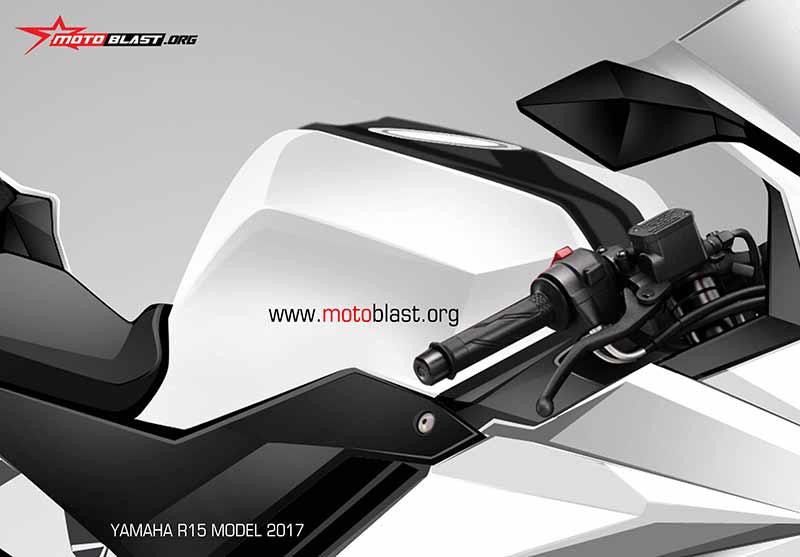 Motowish Yamaha R15 Render 3 - ส่องว่าที่ Yamaha R15 2017 สปอร์ตไบค์น้องเล็ก มีให้เห็นทั้งภาพแอบถ่าย และภาพเรนเดอร์ - ในที่สุดก็มีภาพหลุดออกมาให้เห็นกัน โดยเริ่มจากภาพแอบถ่ายขณะวิ่งทดสอบบนถนน จากนั้นก็มีภาพเรนเดอร์ที่ทำออกมาให้เห็นรายละเอียดแบบชัดเจน