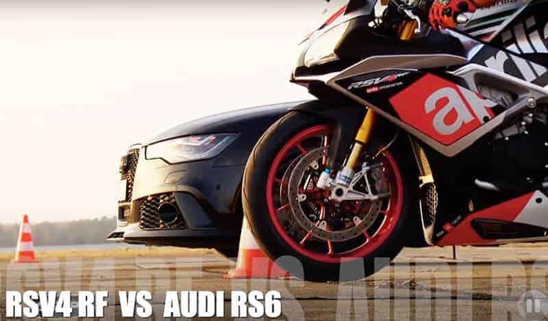 ศึกดวลความเร็ว Aprilia RSV4 RF 200 แรงม้า vs Audi RS6 V8 450 แรงม้า บนสนามบินใครจะเข้าวิน !!! | MOTOWISH 145