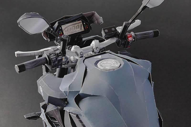 หาเวลาว่าง สร้างอารมณ์สุนทรีย์ แล้วมาพับโมเดล Yamaha MT-10 กันดีกว่า   MOTOWISH 104