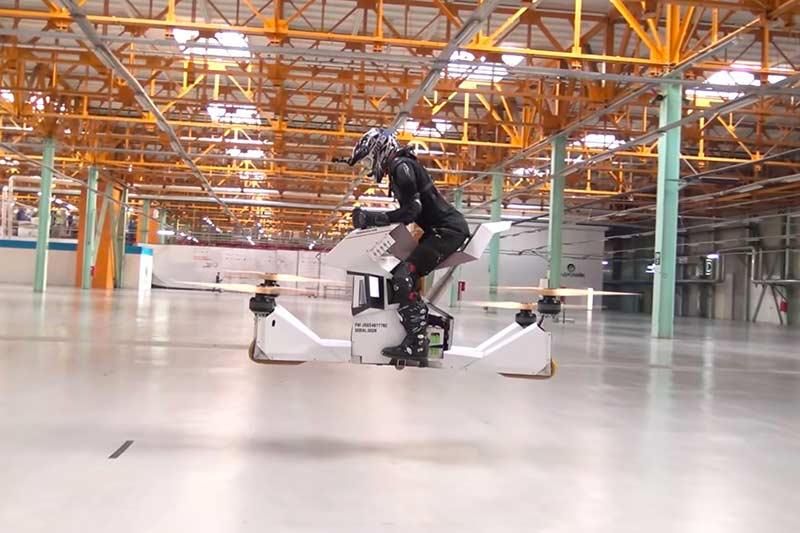 ขึ้นขี่ บินได้จริง Scorpion-3 Hover Bike ตัวต้นแบบจากรัสเซีย | MOTOWISH 130