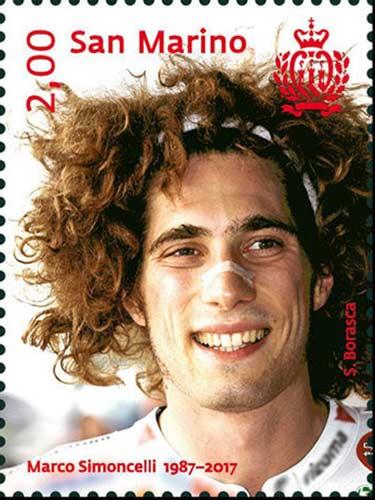 Marco Simoncelli stamps 1