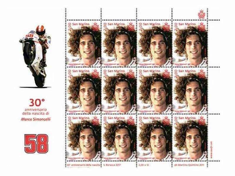 Marco Simoncelli stamps