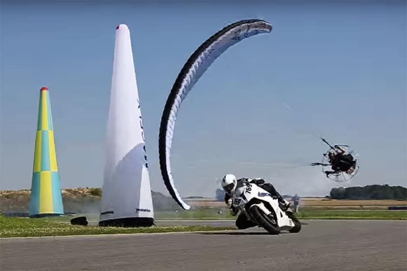 MotoWish-BMW-S1000RR-VS-Paramotor-On-Circuit-BiG-JIM-Stunt