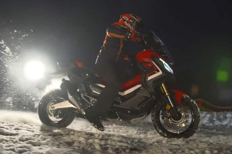 Marc-Marquez-riding-X-ADV-on-snow