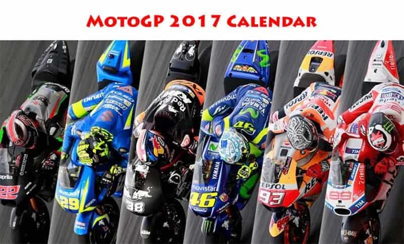 ตารางการแข่งขัน MotoGP 2017 | MOTOWISH 156