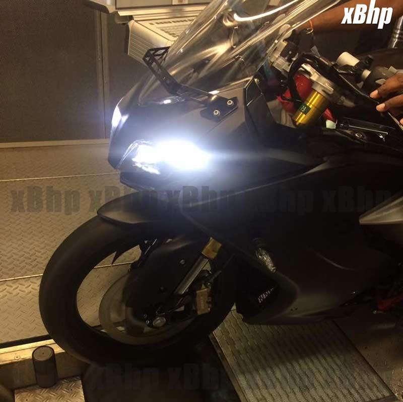 ใกล้ถึงเวลาอาละวาด TVS Akula (BMW S310RR) ถูกจับภาพได้ระหว่างการทดสอบบนไดโน่   MOTOWISH 92