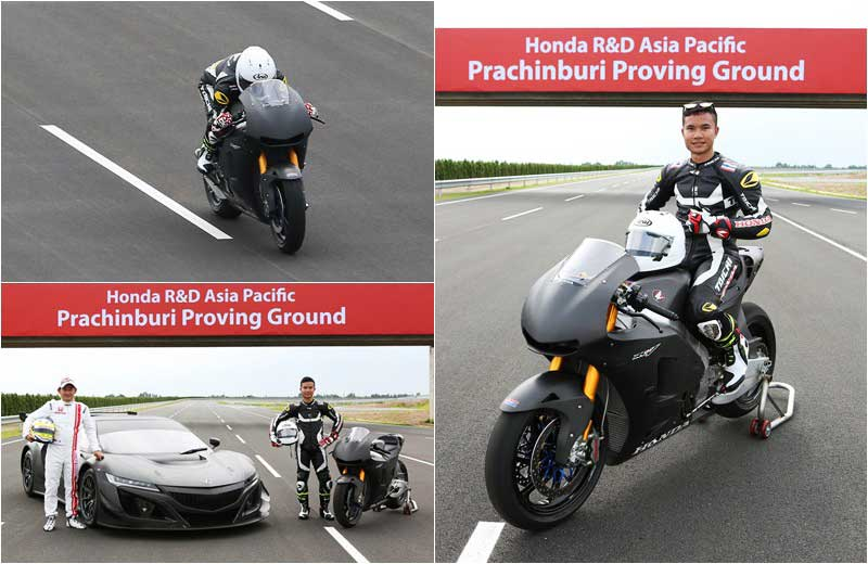 MotoWish Honda Prachinburi Circuit Test RC213V s - ชิพ นครินทร์ กดคันเร่งหวด Honda RC213V-s ประเดิมลั่นสนามทดสอบใหม่ 1,700 ล้านบาท - ชิพ นครินทร์ อธิรัฐภูวิภัทร์ นักบิดดาวรุ่งเวิลด์กรังด์ปรีซ์รุ่น Moto3 จากค่าย เอ.พี.ฮอนด้า เรซซิ่ง ไทยแลนด์ ลงทำการทดสอบสนามแห่งใหม่ โดยใช้สุดยอดรถ DNA MotoGP เวอร์ชั่นถนน นั้นคือ Honda RC213V-s เสียงสนั่นลั่นสนามทดสอบ ฮอนด้า อาร์แอนด์ดี เอเชีย แปซิฟิค จ.ปราจีนบุรี