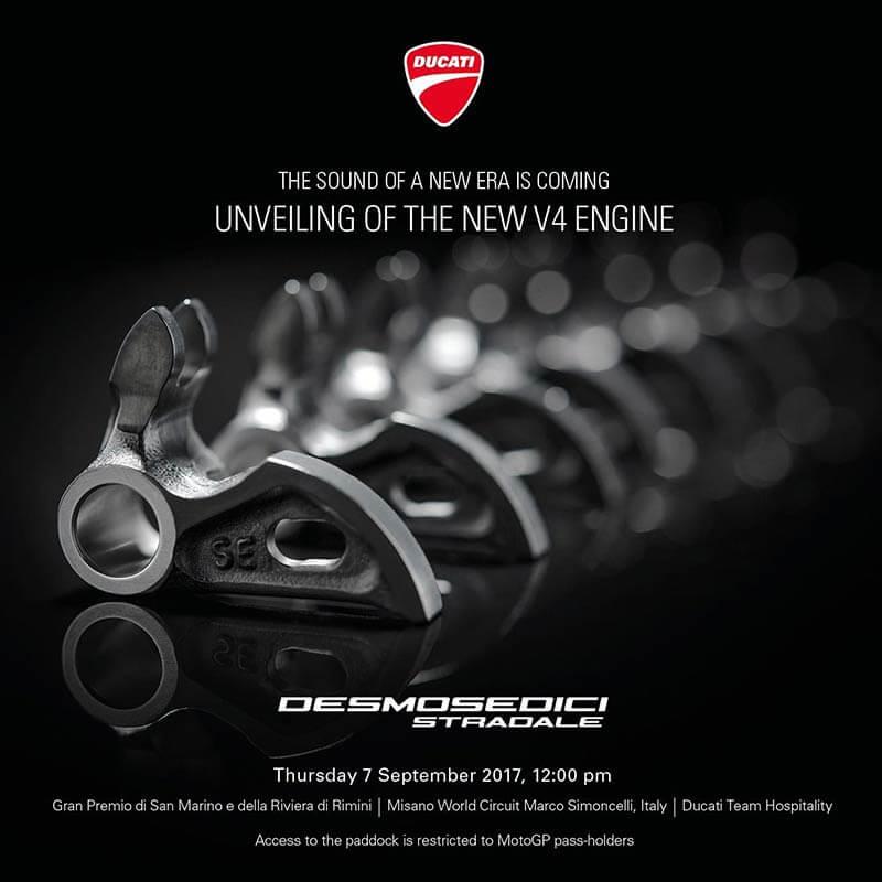 Ducati Desmosedici Stradale engine - ใช่หรือไม่? เผยให้เห็นเต็มๆ กับว่าที่ Ducati Desmosedici Stradale เครื่อง V4 สุดว๊าวววว - ในสุดสัปดาห์นี้จะถึงเวลาเผยโฉมรถรุ่นใหม่ของค่าย Ducati อย่าง Desmosedici Stradale ซึ่งเป็นชื่อที่ถูกเรียกจากทางค่าย โดยก่อนหน้านี้เราจะคุ้นเคยกับชื่อ Ducati V4 Superbike สำหรับเครื่องยนต์ตัวใหม่นี้จะเป็นแบบ