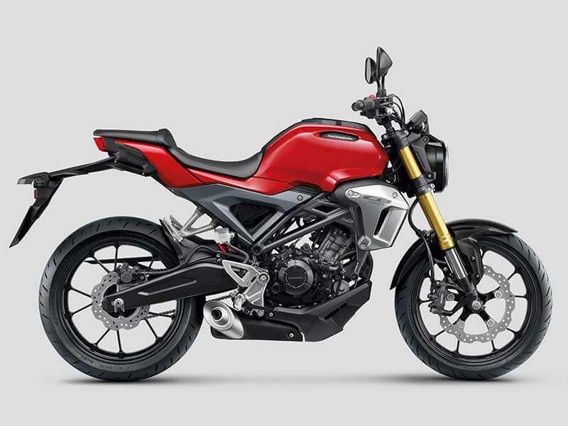 "Honda CB150R red STD - เปิดตัวครั้งแรกในโลก Honda CB150R ทั้งรุ่นธรรมดา และรุ่นตกแต่งพิเศษ พร้อมรายละเอียดแบบจัดเต็ม - บริษัท เอ.พี. ฮอนด้า จำกัด ตอกย้ำผู้นำตลาดอันดับหนึ่งในไทย จัดงาน ""The ExMotion World Premier Launch"" เปิดตัวครั้งแรกของโลกกับ Honda CB150R สุดยอดรถจักรยานยนต์สายพันธุ์สปอร์ตที่ผสมผสาน"