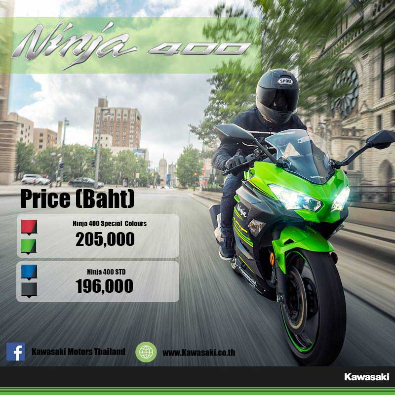 Kawasaki เผยราคารถใหม่ปี 2018 ก่อนเปิดตัวงาน Motor Expo ไฮไลท์เด็ด Ninja 400, Ninja ZX-10R SE, Ninja H2 SX และ Z900RS | MOTOWISH 46