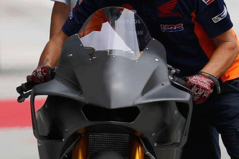 โหด ใหม่ ใหญ่จริง แฟริ่งหน้า Honda RC213V 2018 ในการทดสอบ Private Test | MOTOWISH 53