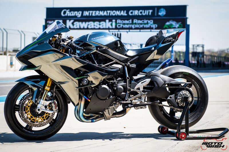 รีวิว Kawasaki Ninja H2 Trick Star : 258 แรงม้า ขีดสุดของความแรง คันแรกของเมืองไทย Full HD   MOTOWISH 24