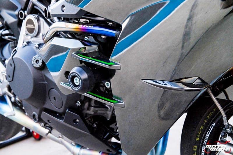 รีวิว Kawasaki Ninja H2 Trick Star : 258 แรงม้า ขีดสุดของความแรง คันแรกของเมืองไทย Full HD   MOTOWISH 38