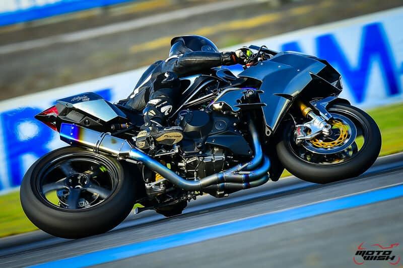 รีวิว Kawasaki Ninja H2 Trick Star : 258 แรงม้า ขีดสุดของความแรง คันแรกของเมืองไทย Full HD   MOTOWISH 13
