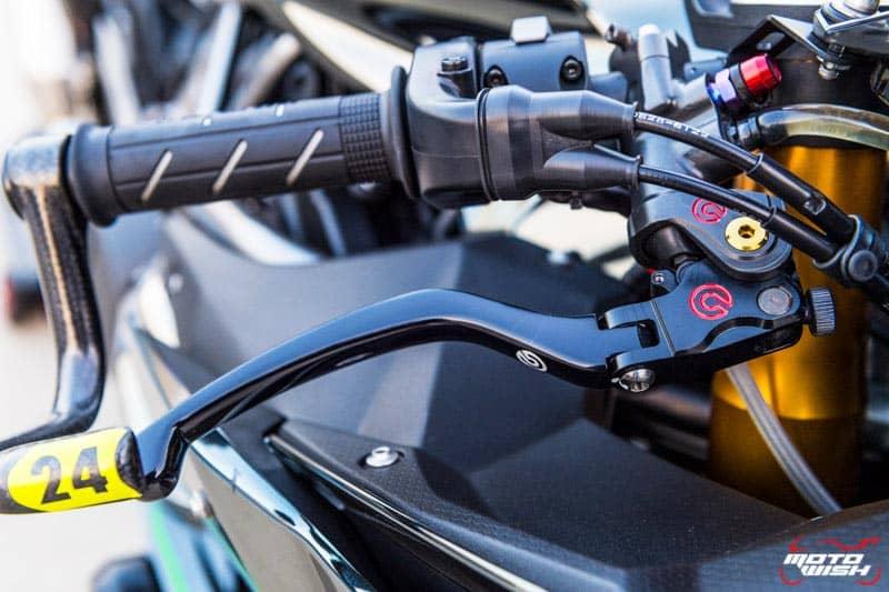 รีวิว Kawasaki Ninja H2 Trick Star : 258 แรงม้า ขีดสุดของความแรง คันแรกของเมืองไทย Full HD   MOTOWISH 51
