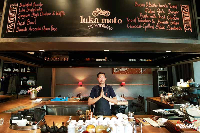 พาเพลินย่านรถหรู กาแฟหอม อาหารอร่อย ที่ร้าน Luka Moto By MF Motorrad | MOTOWISH 61
