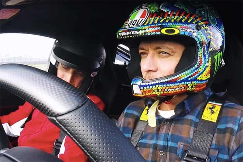 Valentino Rossi โชว์สกิลดริฟท์รถ Ferrari 488 Pista ความแรงระดับ 720 แรงม้า ถึงกับอุทานลั่น !!! | MOTOWISH 49