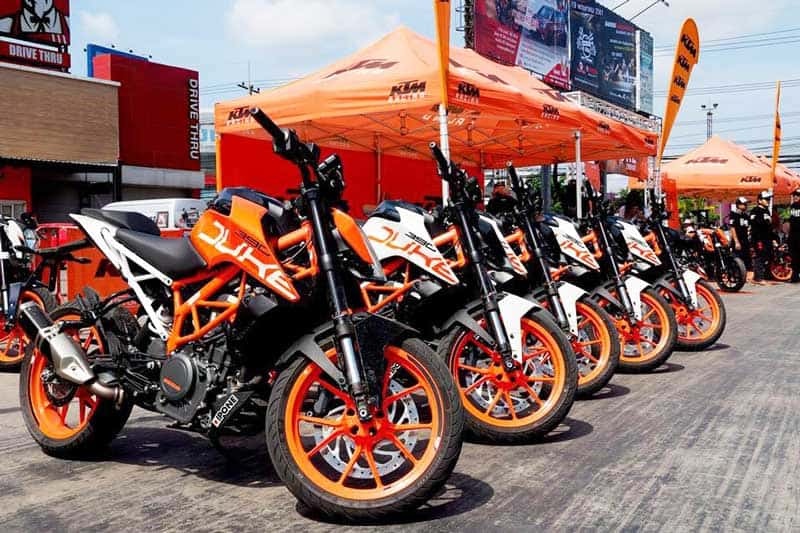 กิจกรรมทดสอบรถฟรี KTM 390 DUKE Test Ride & DUKEHANA Training By KTM Garage Ramintra | MOTOWISH 1
