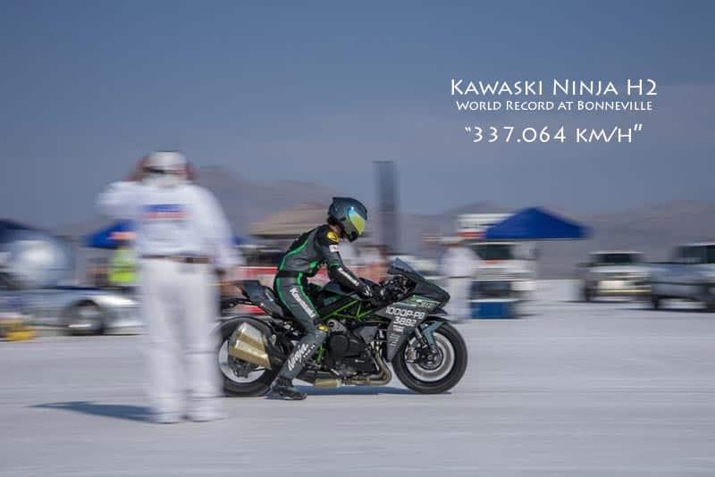 Kawasaki Ninja H2 ทำความเร็วทุบสถิติโลก วิ่งทะลุ 337 กม./ชม. ที่ Bonneville Speed Week | MOTOWISH 1