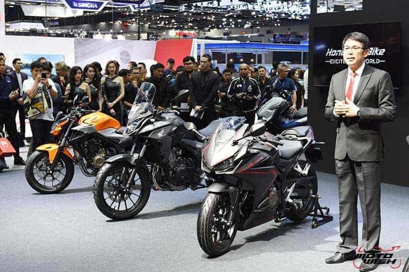 เปิดตัว All New Honda CBR500R, CB500F, CB500X พร้อมราคาโปรโมชั่น Motor Expo 2018 | MOTOWISH 8