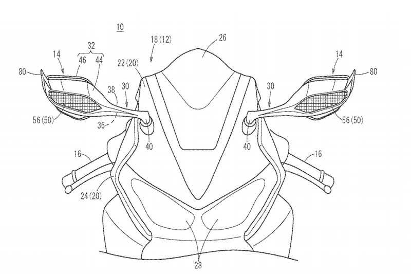 Honda จดสิทธิบัตร Winglets สำหรับกระจกข้าง คาดเตรียมใช้กับ CBR1000RR รุ่นใหม่ | MOTOWISH 1