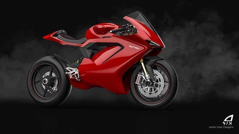 ชมภาพเรนเดอร์ Ducati Elettrico รถพลังงานไฟฟ้า ผลงานการออกแบบจาก Aritra Das Designs   MOTOWISH 2