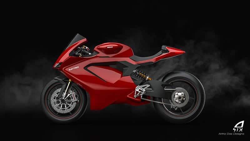 ชมภาพเรนเดอร์ Ducati Elettrico รถพลังงานไฟฟ้า ผลงานการออกแบบจาก Aritra Das Designs   MOTOWISH 4
