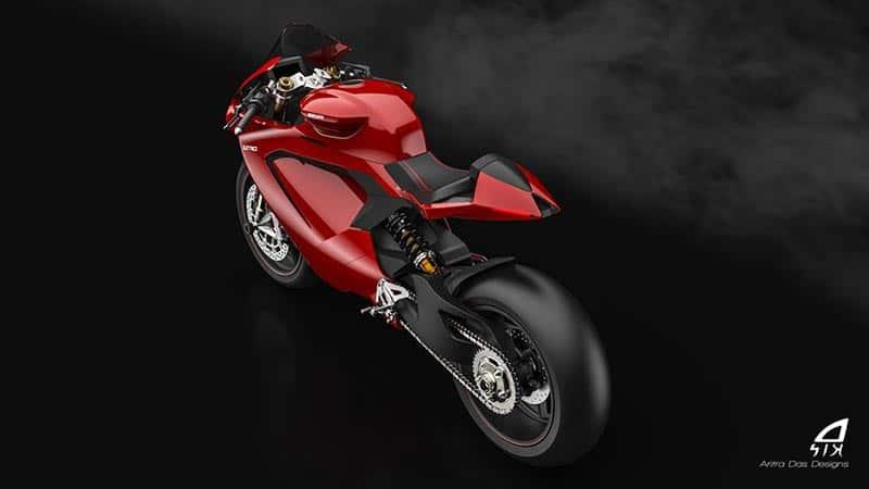 ชมภาพเรนเดอร์ Ducati Elettrico รถพลังงานไฟฟ้า ผลงานการออกแบบจาก Aritra Das Designs   MOTOWISH 5