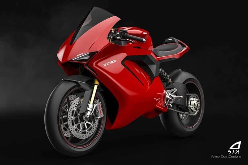 ชมภาพเรนเดอร์ Ducati Elettrico รถพลังงานไฟฟ้า ผลงานการออกแบบจาก Aritra Das Designs | MOTOWISH 1