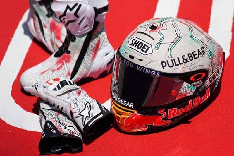 """Marc Marquez"" เปิดตัวหมวกกันน็อค ""Shoei X-Spirit III"" ลายพิเศษ Catalunya 2019 | MOTOWISH 1"