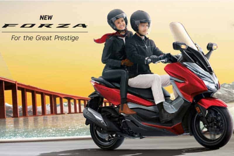 Honda New Forza สกู๊ตเตอร์พรีเมี่ยมคลาส 300 ซีซี เฉียบด้วยเฉดสีใหม่ 4 สไตล์ | MOTOWISH 1