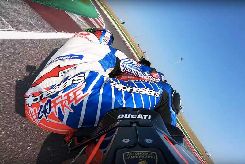 ซ้อนท้ายรถแข่งโมโตจีพี Ducati GP19 Pramac Racing Team ที่สนามมิซาโน่ เซอร์กิต | MOTOWISH