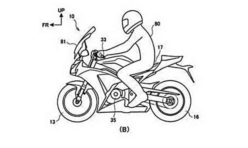 Honda สุดเฉียบ ยื่นจดสิทธิบัตรเปลี่ยนตำแหน่งการขับขี่ จากรถสปอร์ตไบค์กลายเป็นทัวร์ริ่งไบค์ | MOTOWISH 2