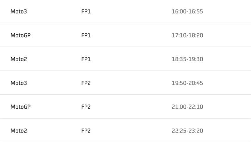 โปรแกรมเวลาพร้อมลิงค์ ถ่ายทอดสดการแข่งขัน MotoGP 2020 สนามที่ 15 Portimao ประเทศโปรตุเกส-2